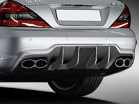 Rear diffuser for AMG SL 65